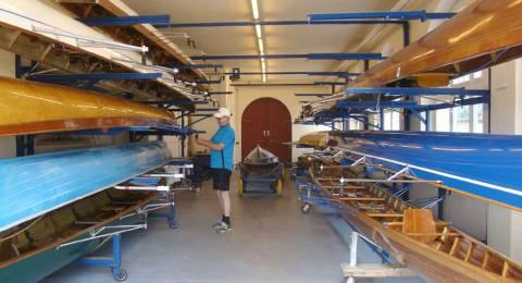 Ertüchtigte Bootshalle. Foto: H. Thiergärtner