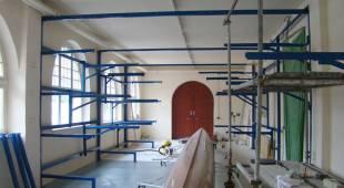 Neue Bootshalle im Aufbau. Foto: H. Thiergärtner